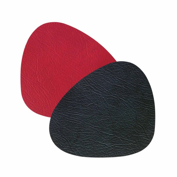 "Lind DNA Tisch Set ""DOUBLE Curve L"" 37x44 cm double CLOUD black/red"