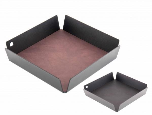 "Lind DNA Tablett ""Square mini"" Alu anthrazit 22x22x4,8 cm NUPO lila/NUPO black"