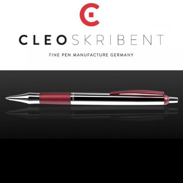 Kugelschreiber Colour glänzend/purpurrot Cleo Skribent