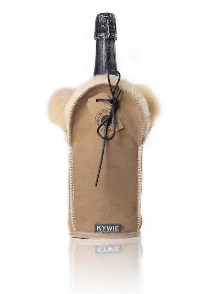 Kywie Champagne Cooler Camel Suede Champagnerkühler