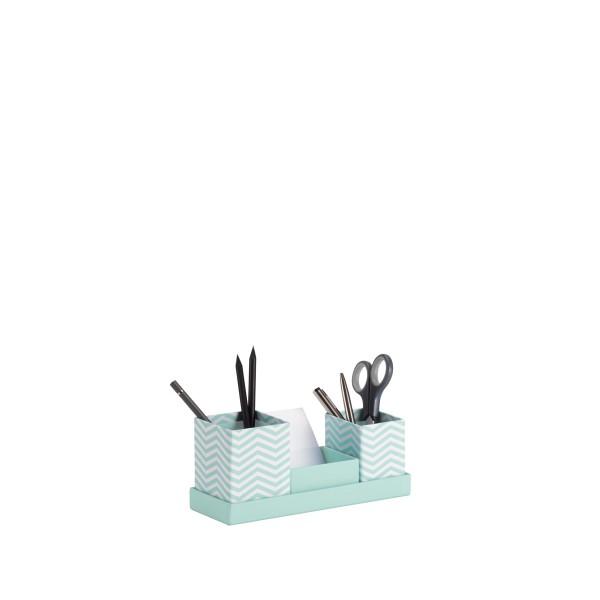 Rössler Fresh- Schreibtisch Organizer mit Zettelbox Jump Jade