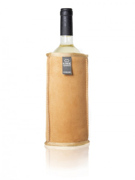 Kywie Wine Cooler Camel Gold Suede Weinkühler