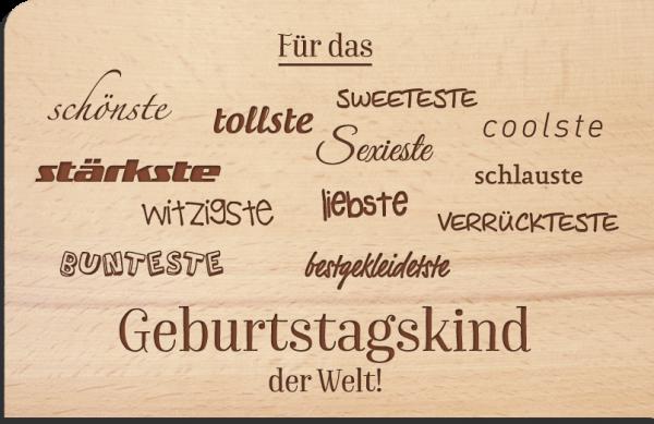 "Holzpostkarte ""Geburtstagskind"""