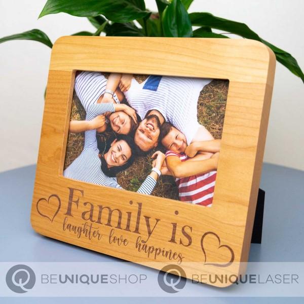 Bilderrahmen aus Holz inkl. individueller Lasergravur