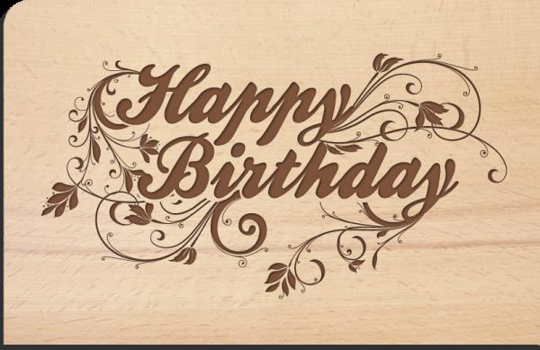 """Holzpostkarte """"Birthday"""""""