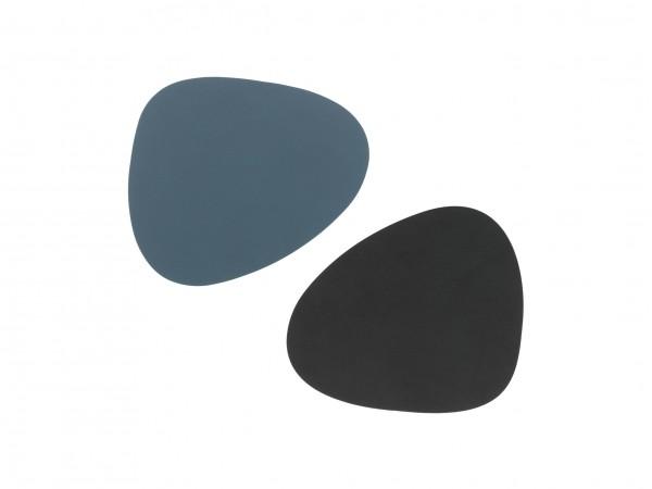 "Lind DNA Glasuntersetzer ""DOUBLE Curve"" 11x13 cm NUPO dunkel blau/NUPO schwarz"