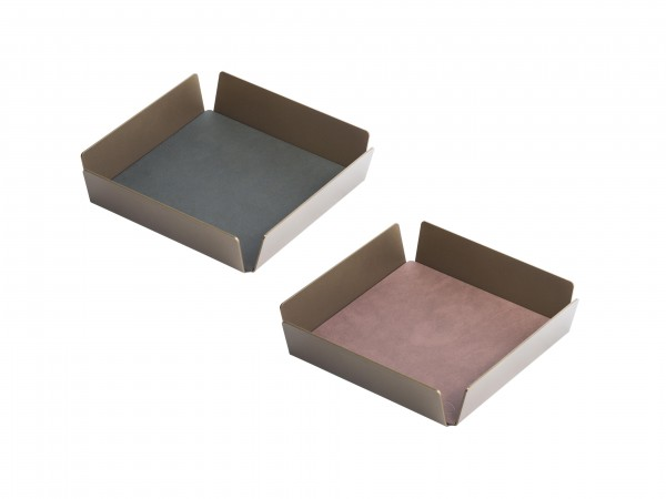 "Lind DNA Tablett ""Square mini"" Alu bronze 22x22x4,8 cm NUPO lila/NUPO black"