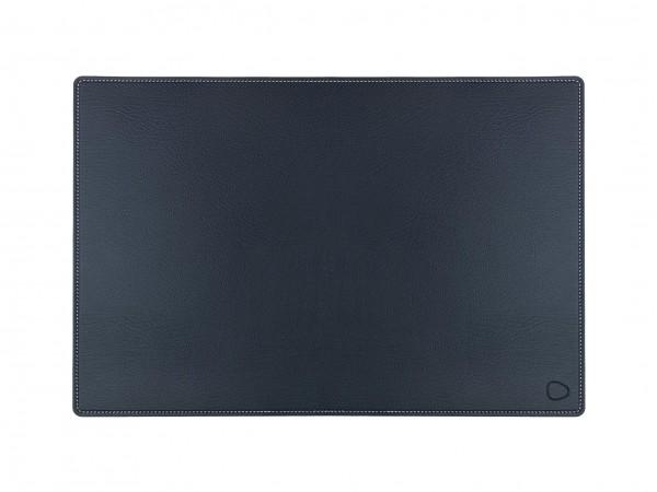 Schreibtischunterlage XL 44x64 cm BULL schwarz/Ziernaht weiß
