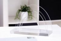WEDO® Acryl-Briefständer 2 Fächer klar