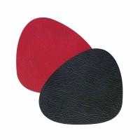 "Lind DNA Glasuntersetzer ""DOUBLE Curve"" 11x13 cm CLOUD black/red Glass Mat DOUBLE Curve CLOUD double black/red"