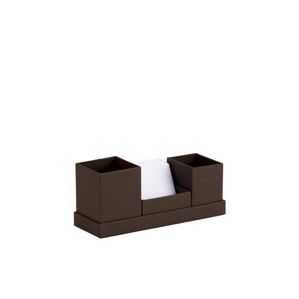 Rössler S.O.H.O. Espresso - Schreibtisch Organizer mit Zettelbox