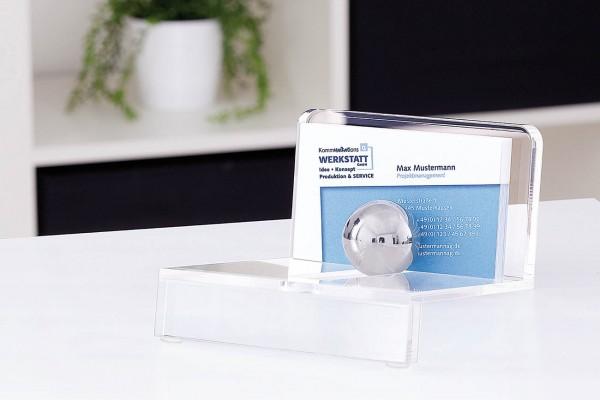 WEDO® Acryl-Visitenkartenhalter klar