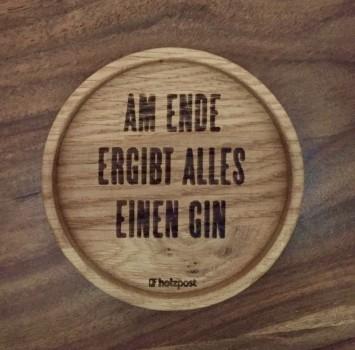 """Holzpost Glasuntersetzer EICHE 11,2 cm """"Ende"""" Holzpost"""