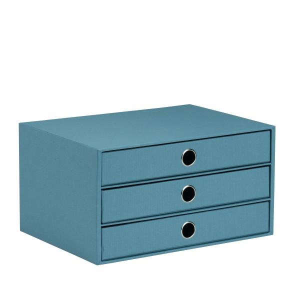 Rössler S.O.H.O. Denim - 3er Schubladenbox A4