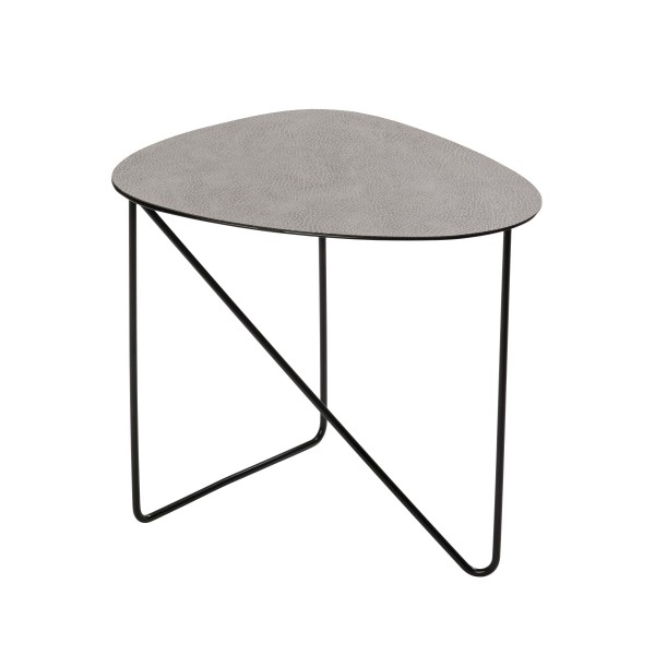 Coffe Table Curve M 40x43x37 cm hippo anthracite-grey/ STEEL black