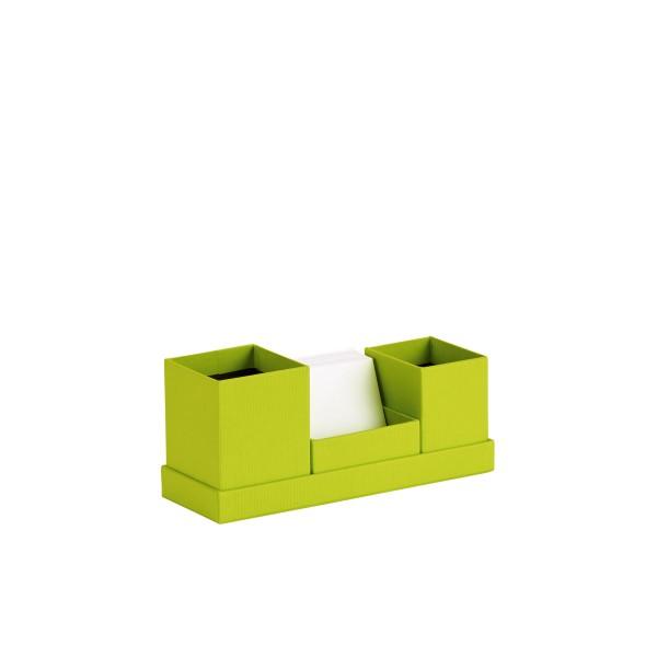 Rössler S.O.H.O. Limette - Schreibtisch Organizer mit Zettelbox