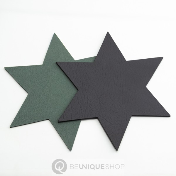 "Lind DNA Glasuntersetzer ""double Star"" 15x15 cm Cloud Anthracite/Nupo past. Green"