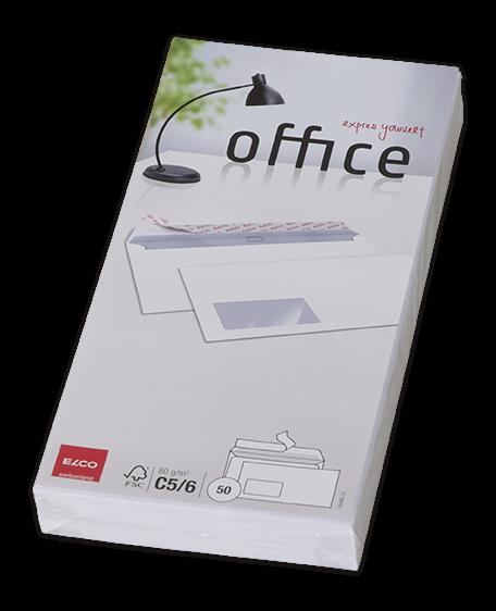 Office Kuverts Cello Zip mit Fenster haftklebend C5/6DL 50.stk