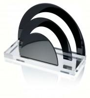 WEDO® Acryl-Briefständer mit 2 Fächern schw/klar