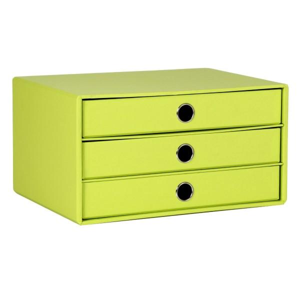 Rössler S.O.H.O. Limette - 3er Schubladenbox A4
