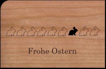 """Grußkarte aus Holz """"Osterhasen"""" mit Umschlag"""
