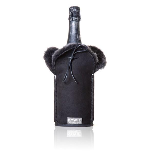 Kywie Champagne Cooler Black Suede Champagnerkühler