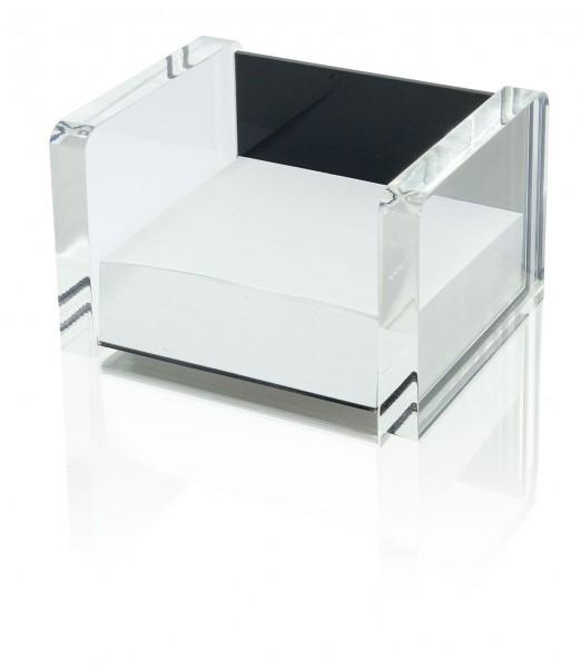 WEDO® Acryl-Zettelbox schw/klar