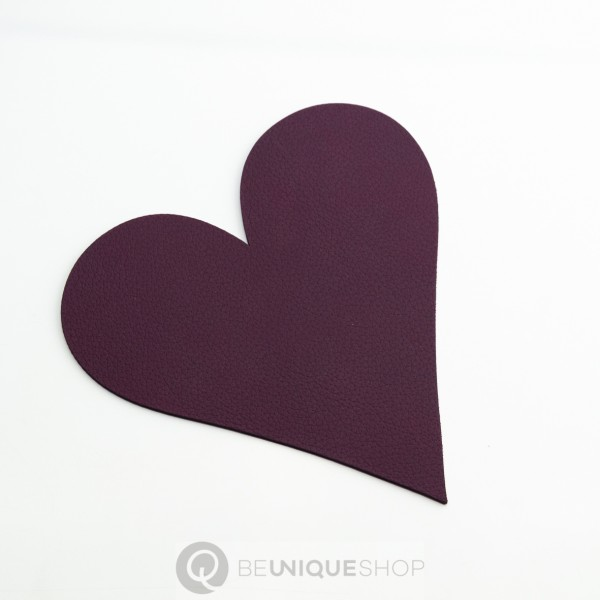 "Lind DNA Glasuntersetzer ""Heart"" 13x13 cm NUPO plum"
