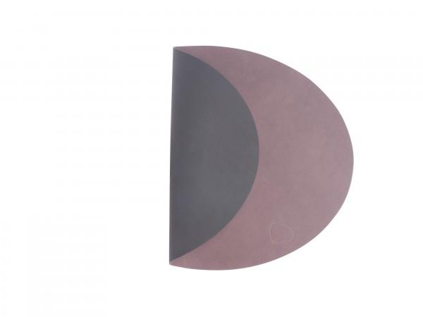 "Lind DNA Tisch Set ""DOUBLE OVAL L"" 35x46 cm NUPO lila/NUPO schwarz"