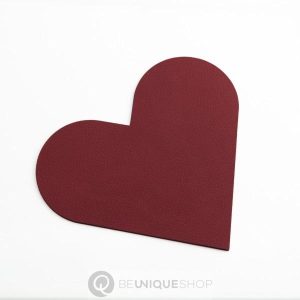 "Lind DNA Glasuntersetzer ""Heart"" 13x13cm NUPO red"