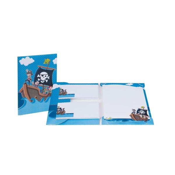 Rössler Piraten - Briefpapierpack 10/10 - 165x235/90x177
